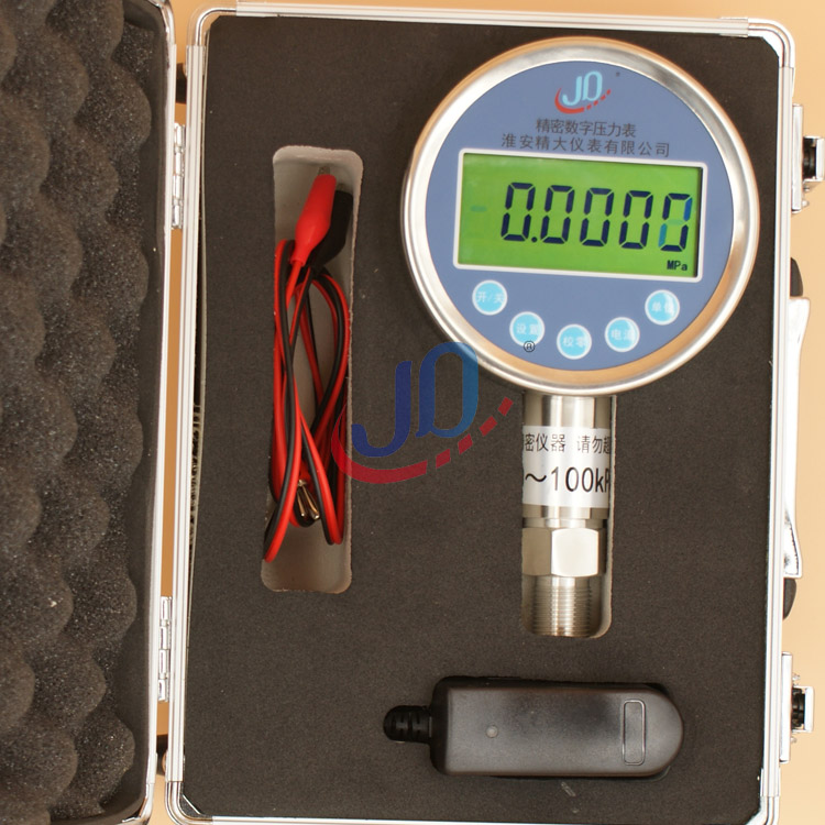 Accuracy 0.05% F.S laboratory high precision digital pressure gauge digital vacuum pressure gauge  M20X1.5  -0.1~1.0MPA