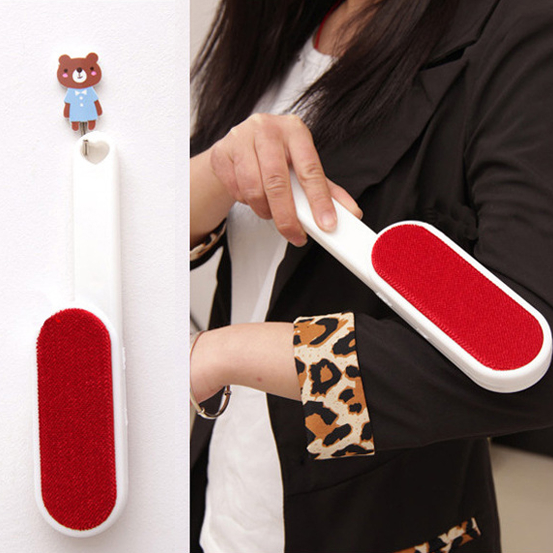 Top Sale 1pc Magic Lint Dust Brush Pet Hair Remover Clothing Cloth Dry Cleaning with Rotatable Static Brush Clothes