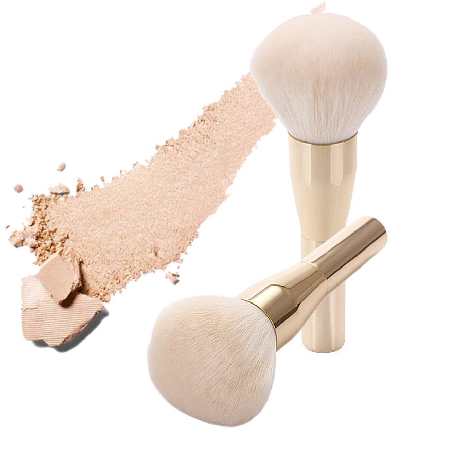 Professional Golden metal handle Large Cosmetics Brush Beauty Product Loose Powder Brush Makeup Blush Foundation Brush coenzyme q10 coq10 powder 99 5hplc 100g beauty product