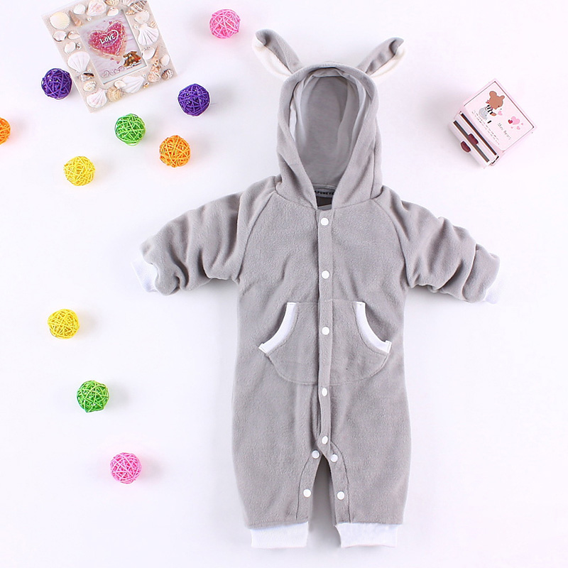 New Fashion Cute Baby Kid Toddler Boys Girls Animal Onesie Bodysuit Winter Warmly Jumpsuit Fancy Costume FJ88