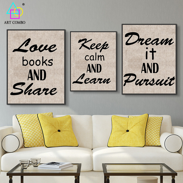 Classical Canvas Painting Beautiful Letter with Fabric Cloth Wall ...