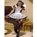 Женская 2 Шт. Французский Костюм Горничной Белье Хэллоуин Платье