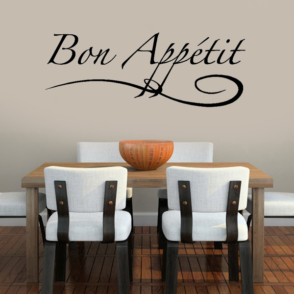 aliexpress.com : buy bon appetit kitchen wall stickers home ... - Wall Stickers Cucina