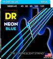 Dr k3 hi-def neon azul luminescente baixo cordas de guitarra, luz 40-100 ou médio 45-105 ou 5 cordas 45-125