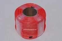 赤 6 ミリメートル * 100 メートル合成ウインチロープ、atvウインチケーブル、オフロードロープ、ロープatv utvウインチ、プラズマロープ