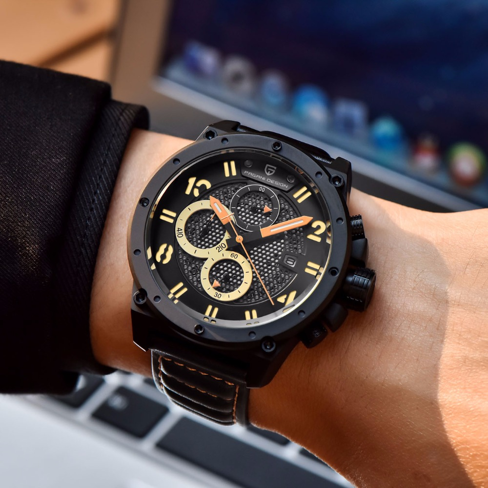 PAGANI DESIGN Sport montre hommes Top marque de luxe en plein air militaire chronographe Quartz armée montre mâle horloge Relogio Masculino Saat - 6