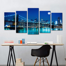 Golden Gate Bridge Night Pattern Paintings Mural Bedroom Living Room Sofa Background Wall Decorative Stickers