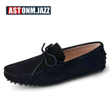ed13d3359a6 Men s Suede Leather Penny Loafers Breathable Driver Shoes Slip-on Flat Shoes  Men s Fashion Boat Shoe Mens Casual Shoes For Men