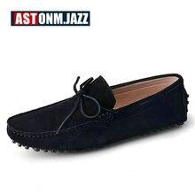 Мужские замшевые Пенни-Лоферы дышащая драйвер обувь без шнуровки на плоской подошве Модные мужские лодка обуви Повседневная мужская обувь для мужчин