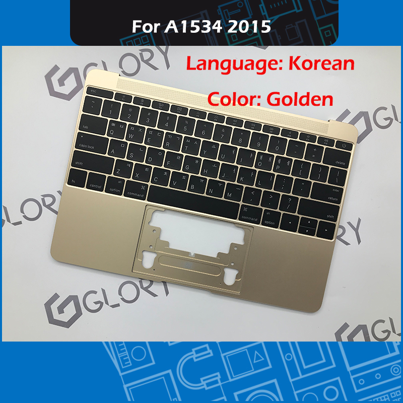 A1534 Topcase avec clavier coréen et rétro-éclairage pour Macbook Retina 12
