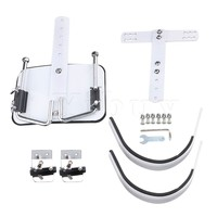 Yibuy White Steel Percussion Instrument Accessory Marching Snare Drum Shoulder Harness Carrier