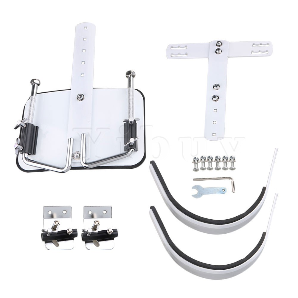 Yibuy White Steel Percussion Instrument Accessory <font><b>Marching</b></font> Snare <font><b>Drum</b></font> & Shoulder Harness Carrier