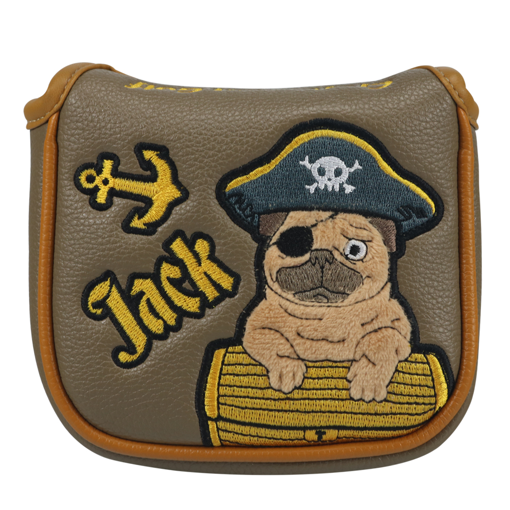 Craftsman Golf Square Mallet Putter Cover Headcover Captain Jack Embroidery Protector Case Magnetic Closure FREE SHIPPING