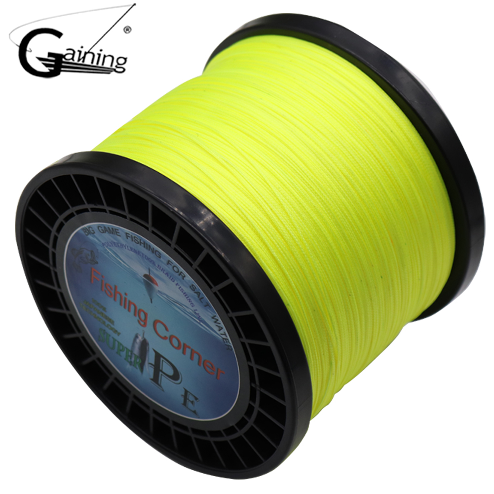 цена на Gaining 16 Strands PE Braided Fishing Line 1000M Japan PE Fishing Line Multifilament Braided Line 59 94 127 136 220 275 308LB