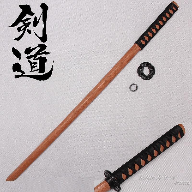 Bokken Wooden Katana Kendo Samurai Practice Sword Decorative  Cosplay 100cm/ 39.37inch With PU Sheath