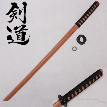 Hard Wooden Sword Samurai Training Katana Bokken Practice Kendo Stick PU Sheath New Brand Supply cutting tool