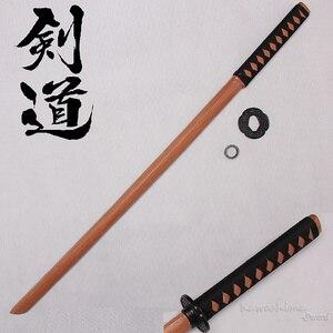 Image 1 - Épée en bois de 100cm/ 39.37 pouces, pour Cosplay, pour pratiques décoratives, avec gaine en PU, flambant neuf