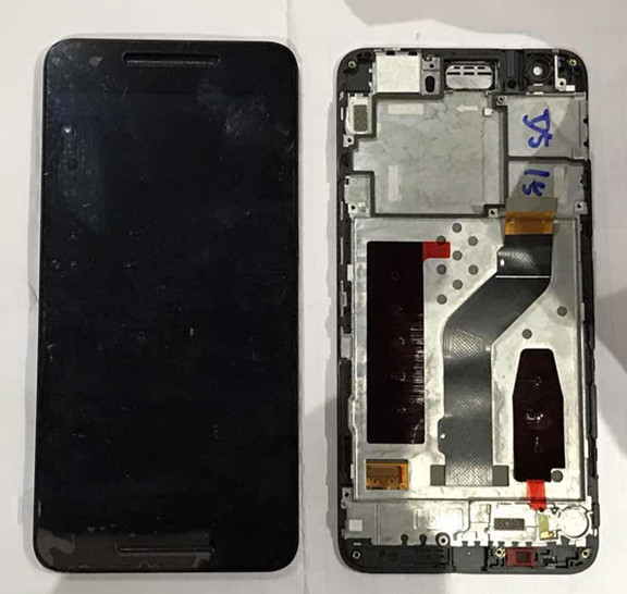 Original LCD screen display+Touch digitizer with frame For Huawei Google Nexus 6P H1511 H1512 black Free Shipping