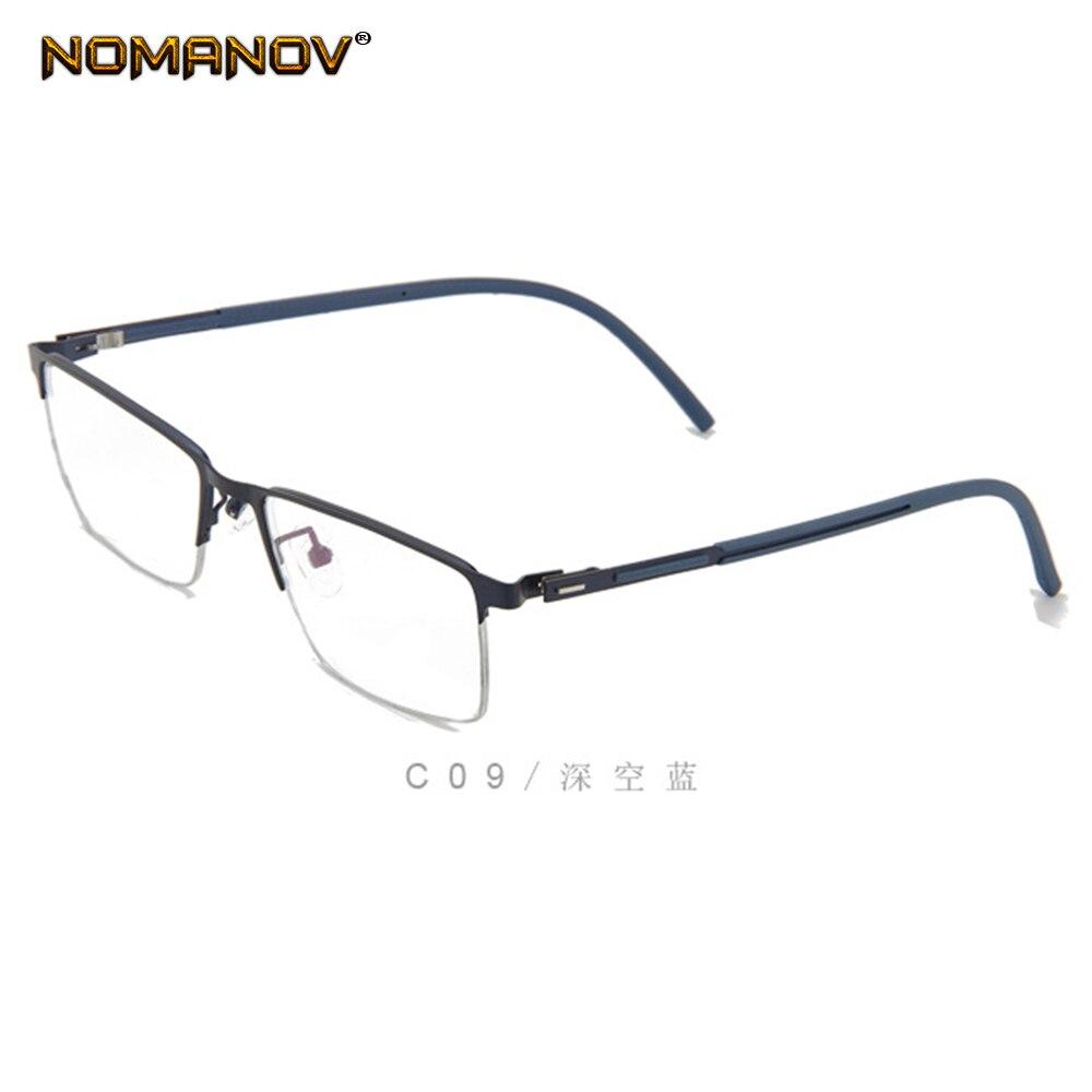 4 Colors Elastic Hinge Business Men Alloy Frame Custom Made Prescription Glasses Photochromic Grey Brown Myopia Near sighted in Men 39 s Prescription Glasses from Apparel Accessories