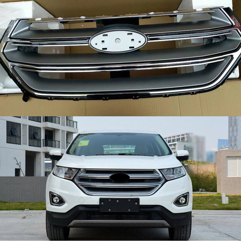 Car Front Bumper Grill Grille Cover Chromed Exterior Fit For Ford Edge   In Racing Grills From Automobiles Motorcycles On Aliexpress Com Alibaba