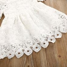 Short sleeve white lace dress