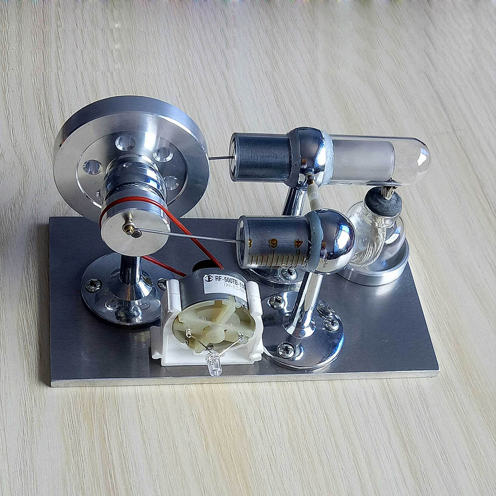 Stirling engine external combustion micro engine, birthday gift steam model engine mini single cylinder stirling engine micro heat engine steam engine model physical experiment gift model