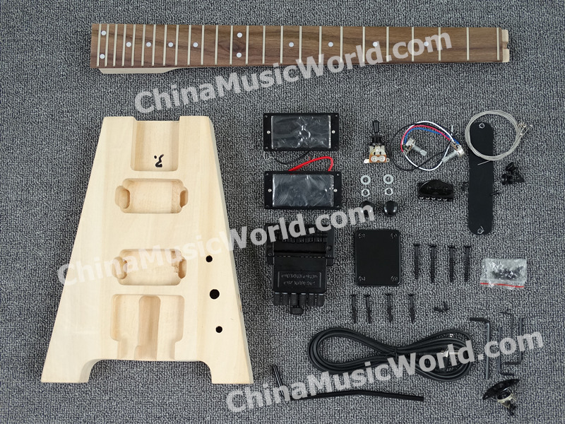 Bricolage kit guitare/touche palissandre/manche érable/AFANTI bricolage kit guitare électrique (AWT-075K)