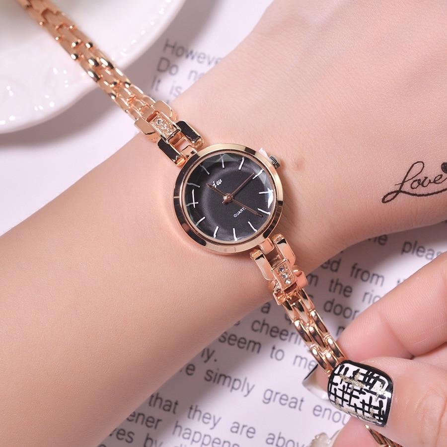 Golden Bracelet Women Watches Luxury Fashion Stainless Steel Ladies Quartz Wristwatches 2019 Simple Small Woman Clock Gifts