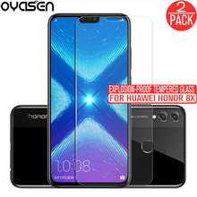 2Pcs/lot For Huawei Honor 8X Honor8X Screen Protector 9H 0.26MM Explosion-proof Tempered Glass Protective Film