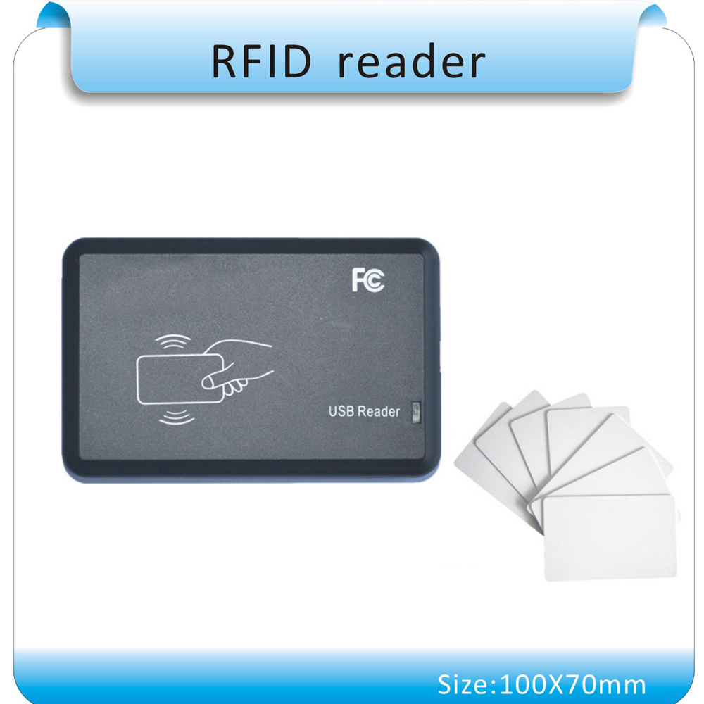 Free shipping 15 kinds output format flat casing 13.56MHZ Mif-are S-50 IC card reader/ RFID reader USB port and 10pcs cards женское платье own brand s xxl dn489
