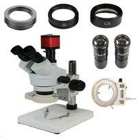 3.5X-90X Simul-Focal Тринокулярный стереомикроскоп + 13MP VGA/HDMI цифровой микроскоп с камерой с объективом SZM0.5X SZM2.0X