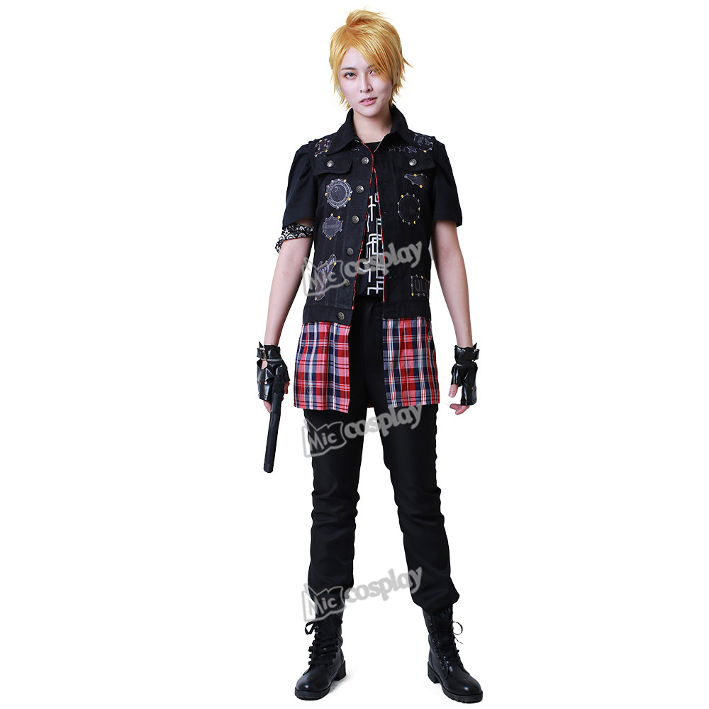 Final Fantasy XV Prompto Argentum Cosplay Anime Hombre Ropa Chaleco - Disfraces