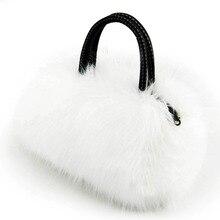 Известный бренд кролик Мех животных Для женщин Курьерские сумки дамы небольшой Сумки Роскошные Дизайн плечо сумка через плечо Обувь для девочек Сумки с короткими ручками