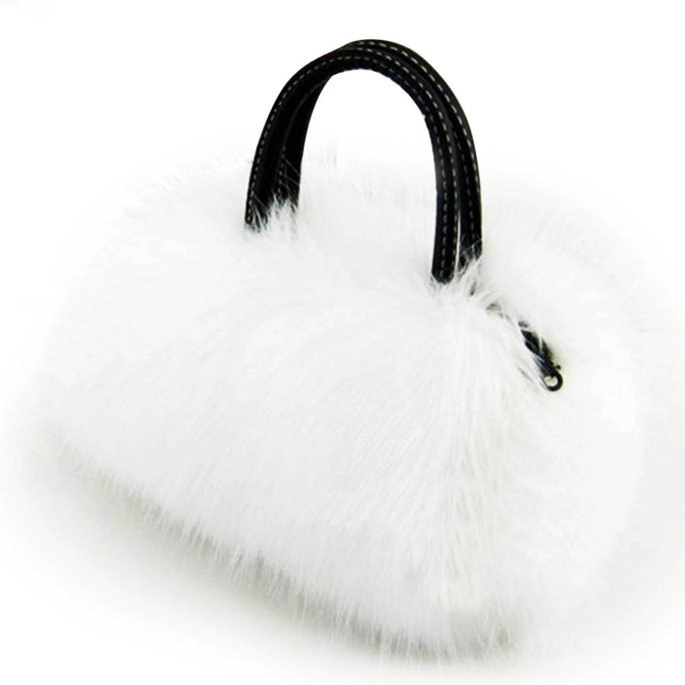 Famous Brand Rabbit Fur Women Messenger Bags Ladies Small Handbags Luxury Design Shoulder Crossbody Bag Girls Top-Handle Bags