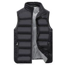 Autumn Winter Sleeveless Coat Men Vest Male Fashion Brand Casual Slim Waistcoat Coat Men's Waterproof Jacket Plus Size 5XL Homme(China)