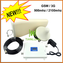 LCD Display High Gain Dual Band Mobile Phone 2G 3G Signal Booster GSM 900 mhz W