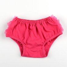 Популярное нижнее белье для маленьких девочек розовые трусики с рюшами для маленьких девочек пышные трусики из узорчатой ткани-S