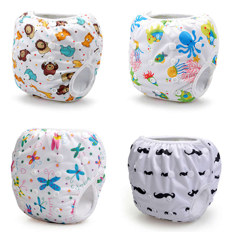 Free Shipping Swim Diapers for Baby Reusable Adjustable Swimwear Swimsuit Baby Girls or Boys 2017