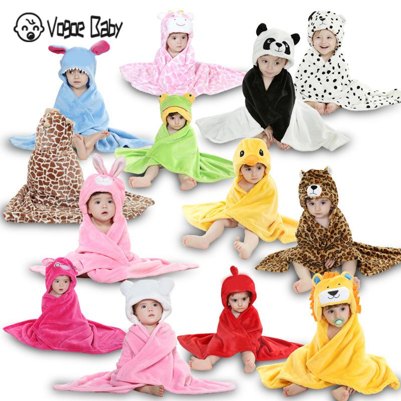 New Animal Charater Square Hooded Bath Towel Set Baby Product Cartoon Baby Robe Infant Bath Towels Blanket 7479