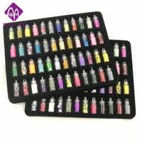 48 bouteilles/paquet ongle paillettes poudre fitness femmes décoration écraser coquille perle perles mini bouteille nail art charme