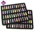 48 botellas/paquete nail glitter powder gimnasio mujeres decoración crush shell perla beads mini botella nail art charm
