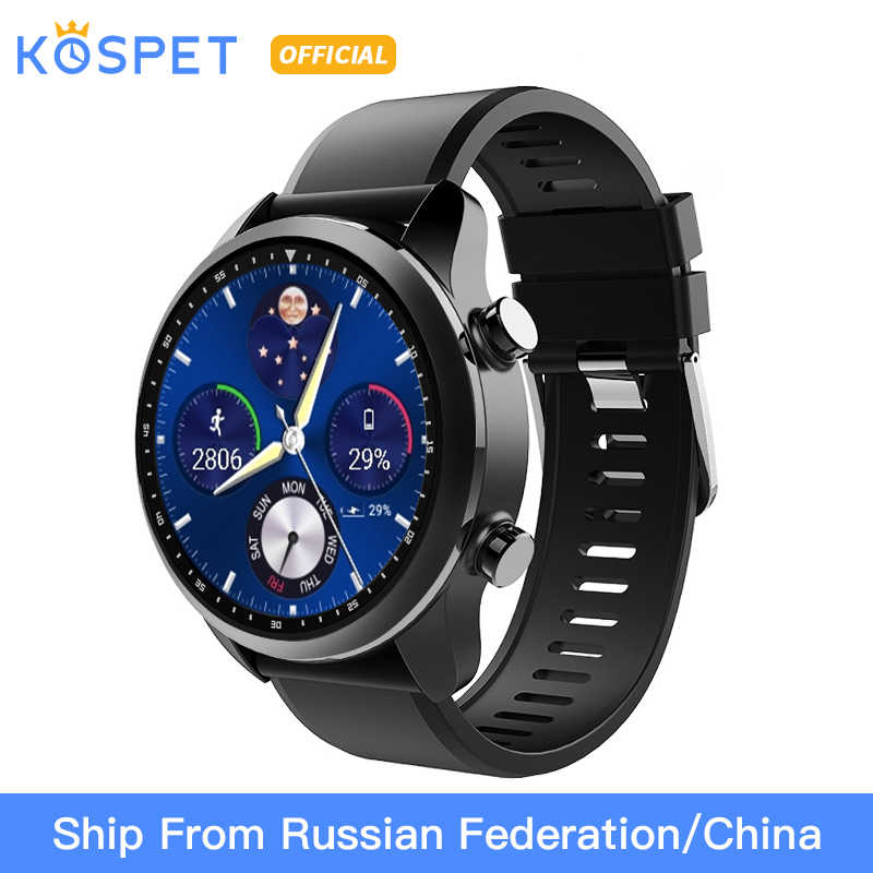 "KOSPET Brave 2GB 16GB Bluetooth Call 620mAh 1.3"" Touch Screen 4G Smartwatch IP68 Waterproof MT6737 Business Smart Watch Phone"