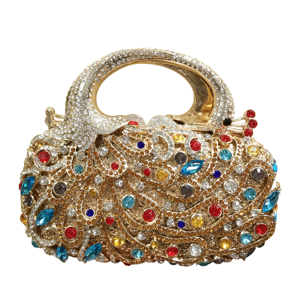 Purse Handbag Clutch Evening-Bag Crystals Diamonds Party Women's The Bird Jewelry Shining