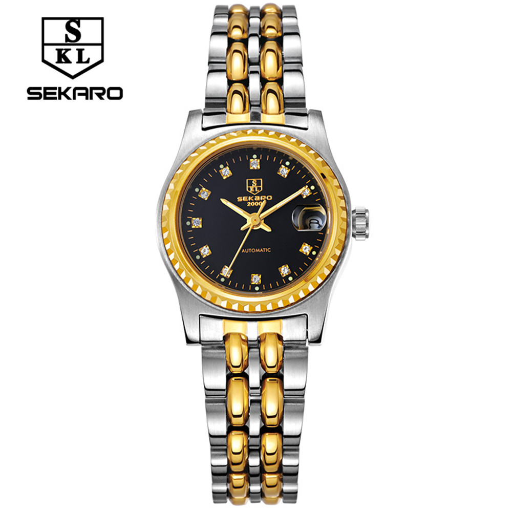 SEKARO female Brand Watch Fashion Luxury Wristwatch Waterproof automatic Mechanical Watch  Sport Casual Watches Reloj femenino binger genuine gold automatic mechanical watches female form women dress fashion casual brand luxury wristwatch original box