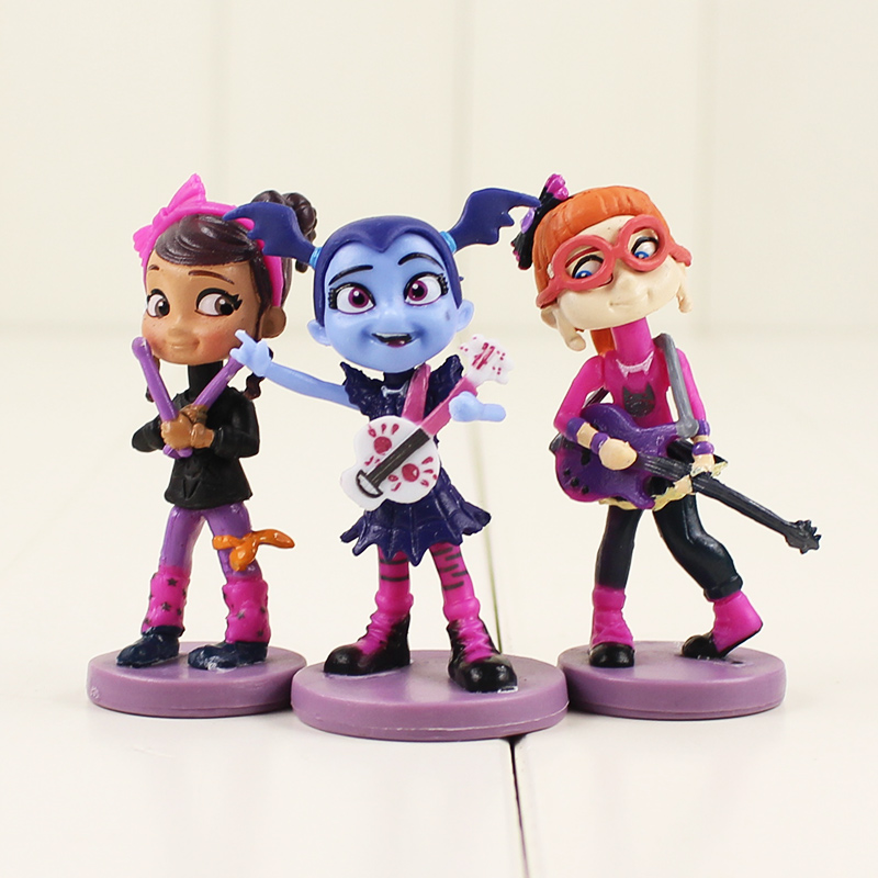 Image 2 - 6 9cm 6pcs/lot NEW Movie Junior Vampirina Vampire Girl Dad Mum friends dog action figure model toy gift-in Action & Toy Figures from Toys & Hobbies