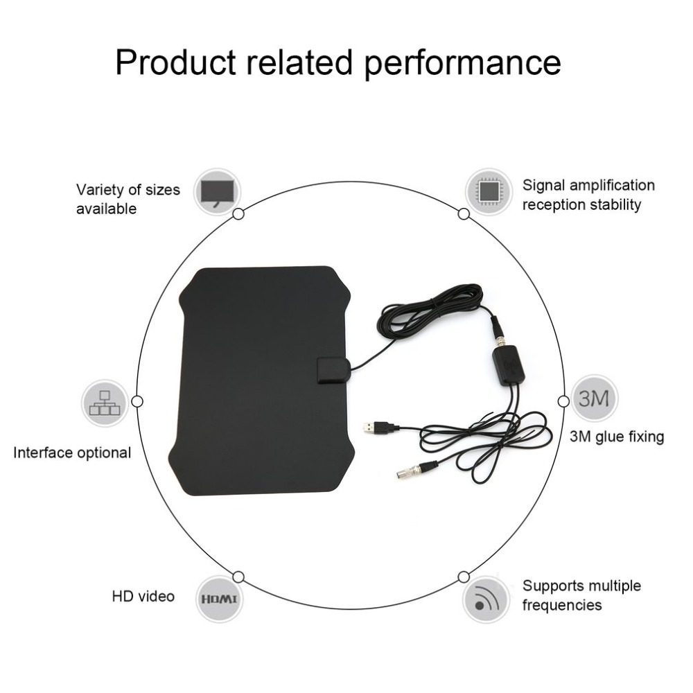 80miles Reception Range Digital Indoor Tv Aerial Hd Television Antenna Wire Diagram Shield Shape With Hdtv023 Amplifier Booster Drop Ship In From Consumer