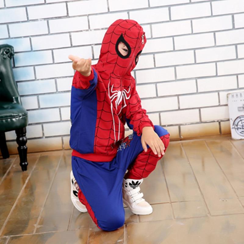 Comic Spiderman disfraz Rojo Negro Spider man Anime Cosplay niños ropa  conjunto Halloween disfraz para niños chaqueta Pantalones en Disfraces niños  de La ... 17fcbf9106f1