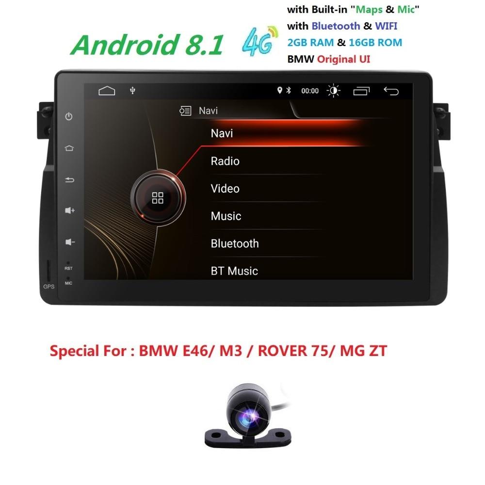 9 écran Android8.1 autoradio pour BMW E46 M3 318i 320i 325i avec MirrorLink No DVD auto multimédia Stéréo Navi RDS DVR CFC BT SD