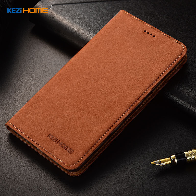 for Asus Zenfone Max Pro M1 ZB601KL case KEZiHOME Luxury Matte Genuine Leather Flip Stand Leather Cover For Asus ZB602KL cases