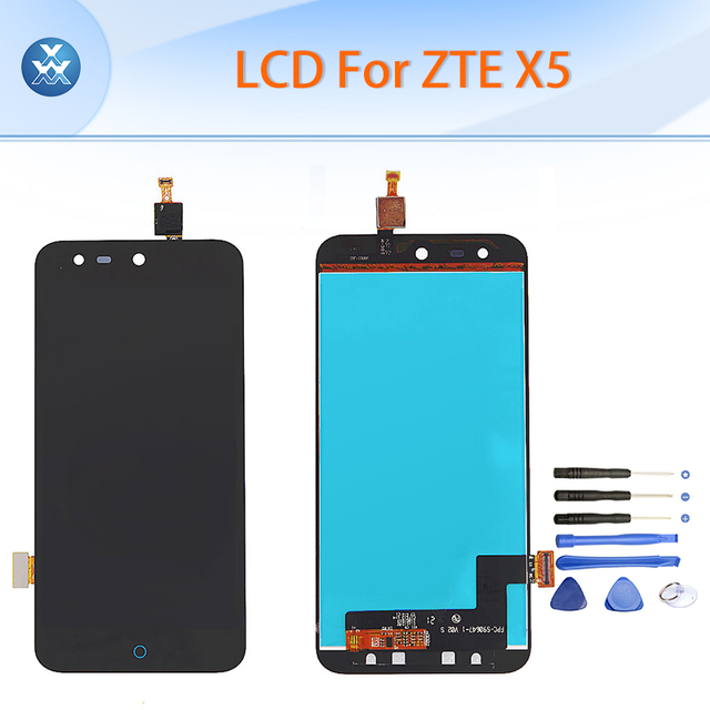 AAA LCD For ZTE Blade X5 D3 T630 LCD display touch screen digitizer assembly 5 inch black pantalla phone parts repair+tools
